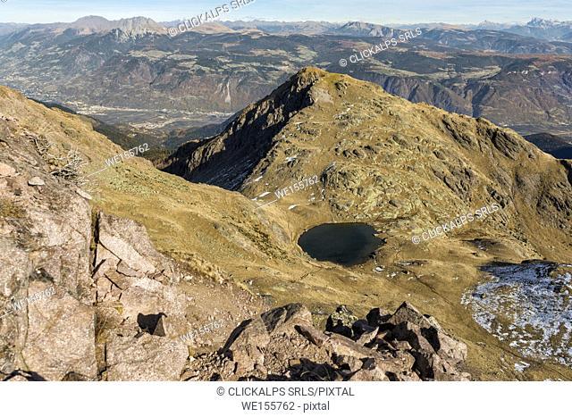 Italy, Trentino Alto Adige, Non Valley, dolomite lake on Luco Mount