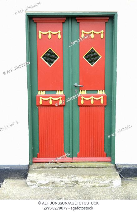 Colorful door in Assens, Fyn; Denmark