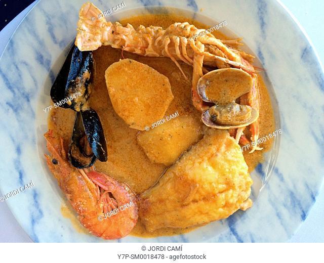 """""""""""Suquet de peix"""" . Typical fish dish. Catalonia.Spain"