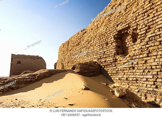 Ruins of the temple and fortress of An-Nadura at Al-Kharga, Egypt