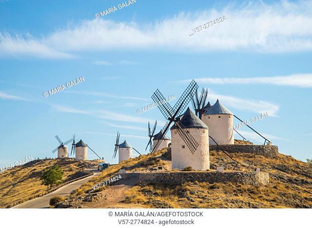 Windmills. Consuegra, Toledo province, Castilla La Mancha, Spain