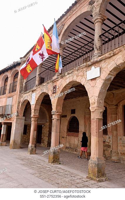 Arch of Main square of Medinaceli, Soria province, Catilla-Leon, Spain
