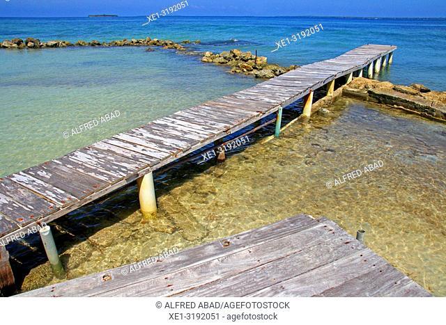 pier, Barú Peninsula, Caribbean Sea, Colombia