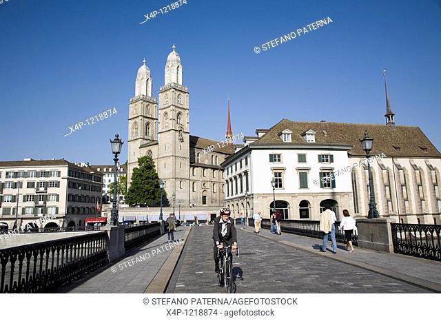 Grossmuenster and Wasserkirche, Zurich, Switzerland