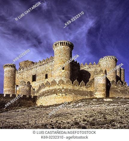 The Castillo de Belmonte is a medieval castle on the hill of San Cristobal, just outside the village of Belmonte in the southwest of the province of Cuenca in...