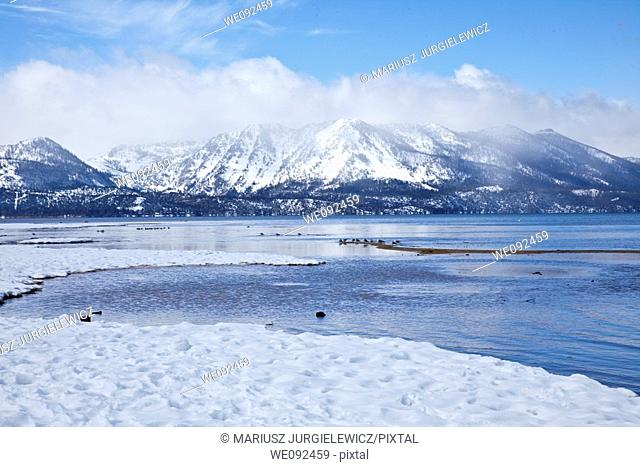 Lake Tahoe is a large freshwater lake in the Sierra Nevada mountains of the United States