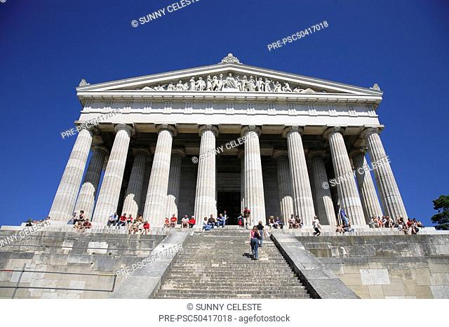The Walhalla, hall of fame for laudable and distinguished Germany near Donaustauf, Bavaria, Germany