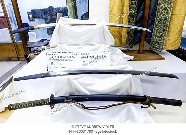 Japan, Honshu, Shizuoka Prefecture, Atami, Atami Castle, Exhibit of Japanese Historical Swords