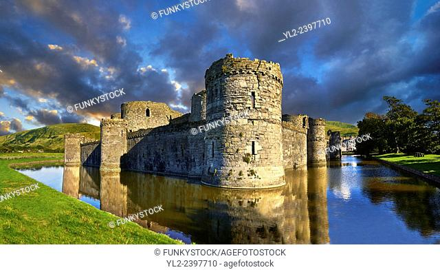 Beaumaris Castle built in 1284 by Edward 1st, considered to be one of the finest example of 13th century military architecture by UNESCO