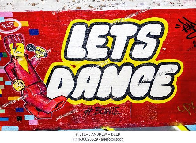 England, London, Lambeth, Waterloo, Leake Street, Graffiti and Wall Art Tunnel