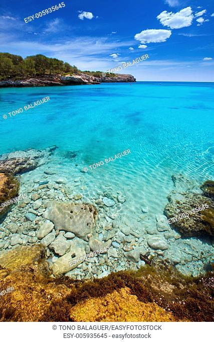 Menorca Cala en Turqueta Ciutadella turquoise Mediterranean at Balearic islands