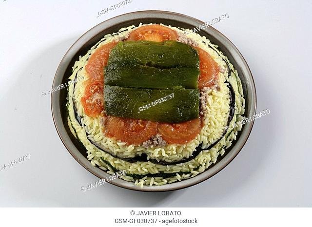 Maqlouba with vegetables
