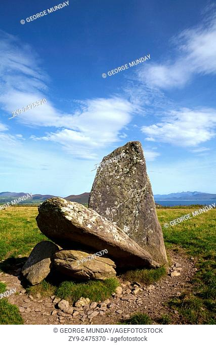 Collapsed Dolmen (Passage Grave) near Bulls Head, Dingle Peninsula, County Kerry, Ireland