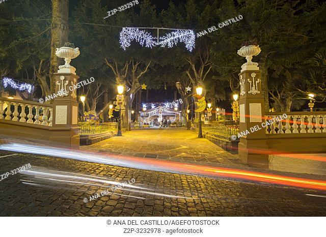 Icod de los Vinos by night Tenerife Canary islands Spain on January 3, 2019