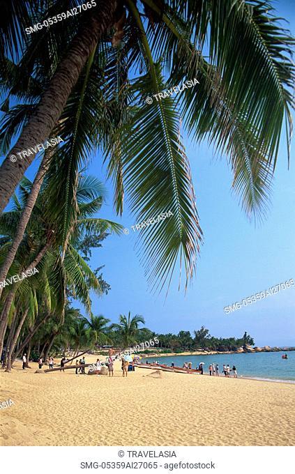 China,Hainan Island,Sanya,Beach Scene at Tianya-Haijiao Tourist Zone