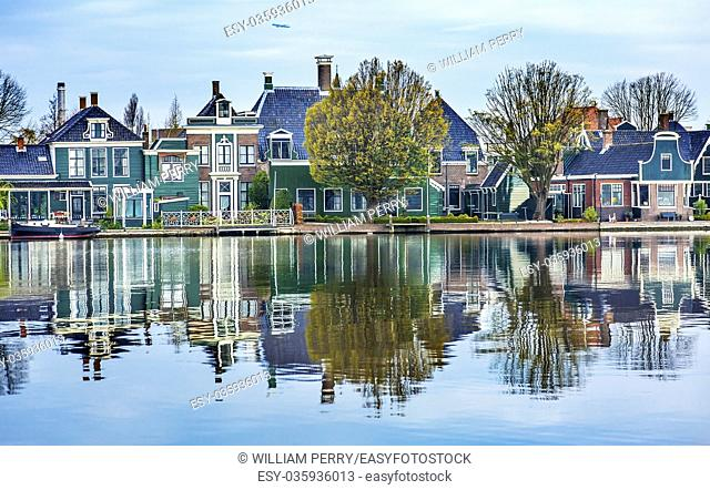 River Zaan Zaanse Schans Old Village Countryside Holland Netherlands