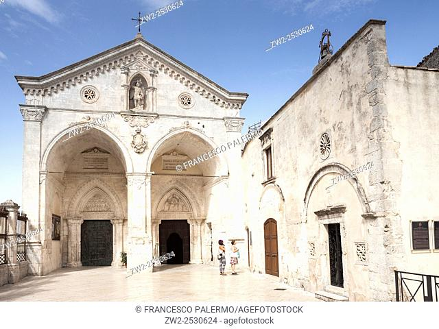 Cathedral in honor of the Archangel Michael. Monte Sant'Angelo, Apulia. Italy