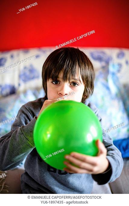 Child balloon inflates