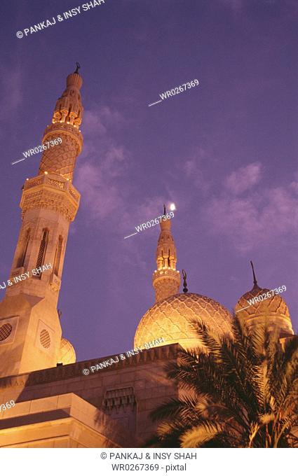 Beautiful Architure of Mosque in Dubai