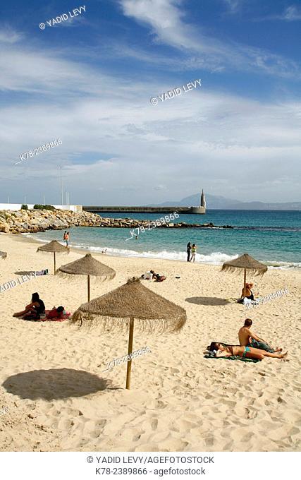 Playa Chica (literaly small beach), Tarifa, Andalucia, Spain