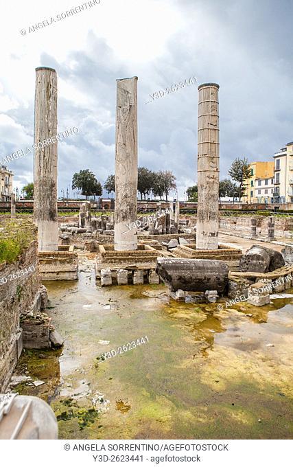 Roman Temple of Serapide, Pozzuoli, Italy