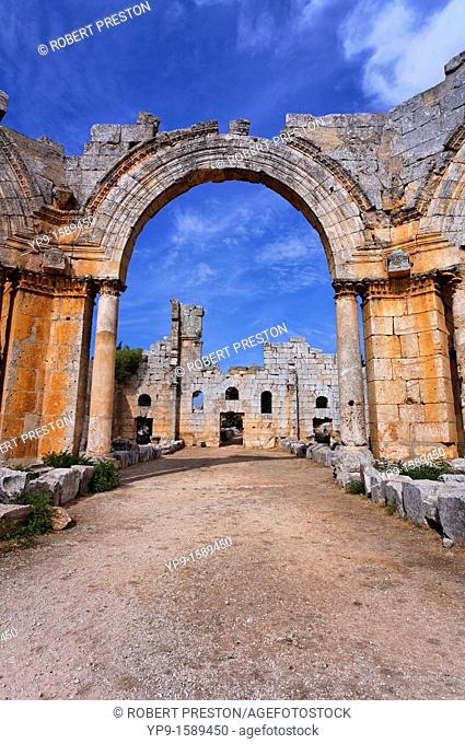The ruins of the church of St Simeon, Syria