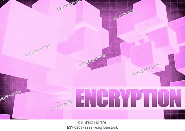 Encryption on Futuristic Abstract