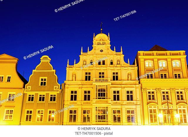 Architecutre of Rostock Rostock, Mecklenburg-Vorpommern, Germany