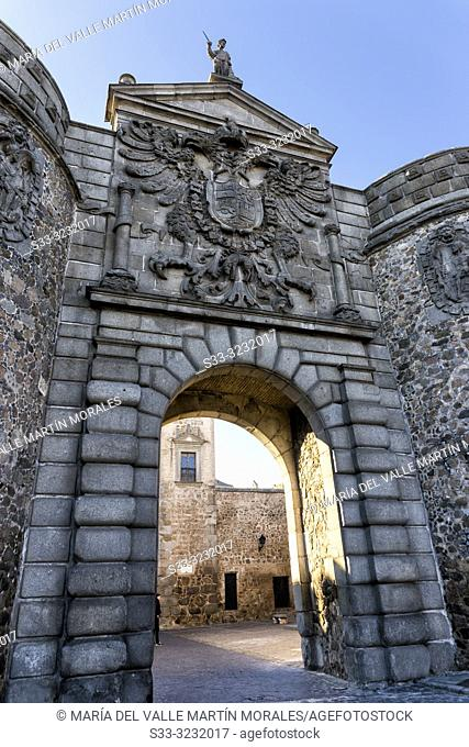 Historical Bisagra door in Toledo. Spain. Europe