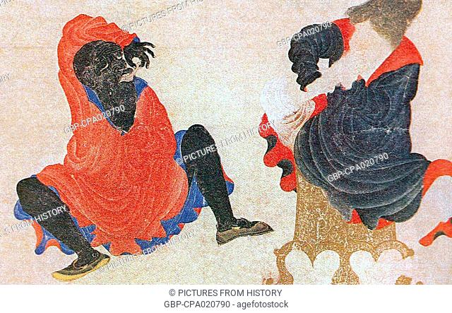 Central Asia, Siyah Kalem School, 15th century: Two demons at their toilet
