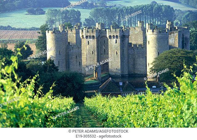Hastings Bodiam Castle. East Sussex, UK