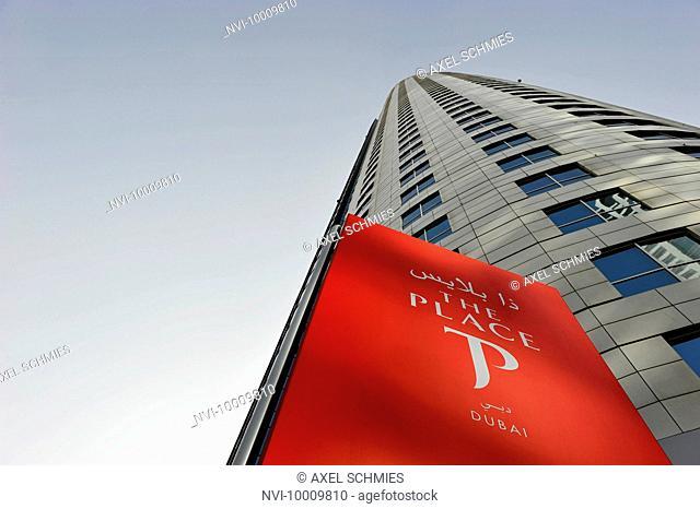 Facade, new luxury hotel THE PLACE, Sheikh Zayed Road, Al Satwa, Dubai, United Arab Emirates, Middle East