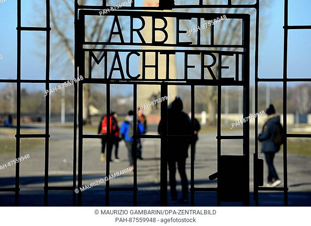Visitors walk across the grounds of the Sachsenhausen concentration camp in Oranienburg, Germany, 27 January 2017. The Day of Remembrance for the victims of...