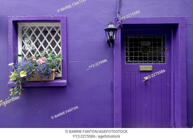 Purple Cottage, Kinsale, Ireland, Republic of Ireland, Europe,