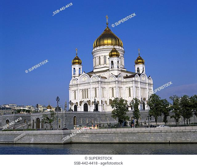 Low angle view of a cathedral, Christ the Saviour Cathedral, Moscow, Russia