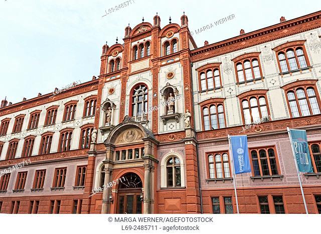University of Rostock, Renaissance building, Hanseatic City of Rostock, Mecklenburg-Western Pomerania, Germany, Europe