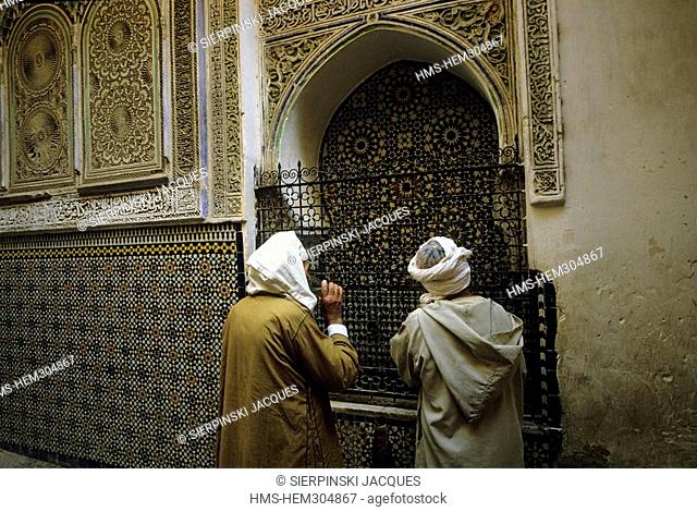 Morocco, Middle Atlas, Fez, Imperial City, medina listed as World Heritage by UNESCO, Fez El Bali District, Moulay Idriss Zaouia