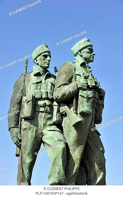 Commando Memorial, bronze monument by Scott Sutherland to commemorate the commando units who trained here during the second world war, Spean Bridge, Highlands