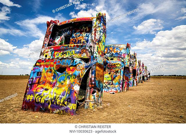Cadillac Ranch, Historic Route 66, Texas, USA