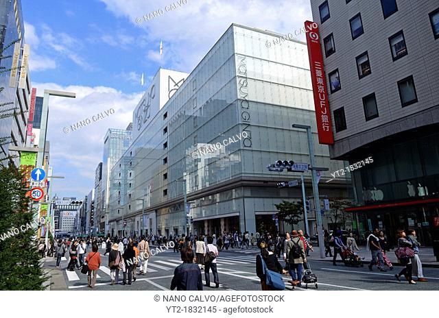 Matsuya Ginza in Ginza Street, Tokyo