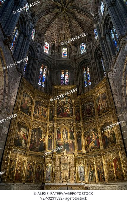 Altarpiece of Cathedral of Ã. vila, Castile and León, Spain