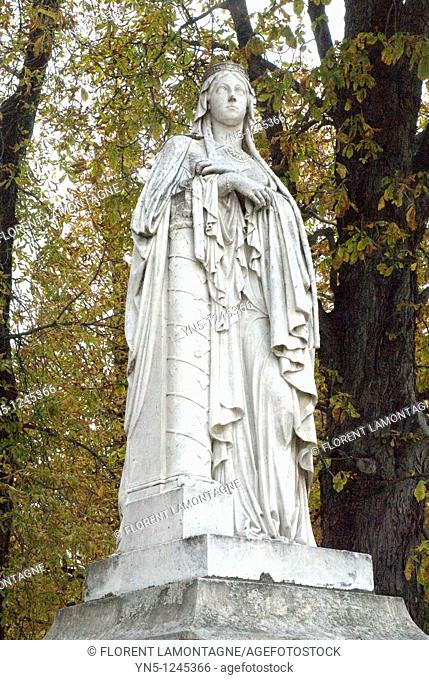France. Paris. Luxembourg garden. CLOTILDE Sainte 475-545, queen of France and wife of king Clovis