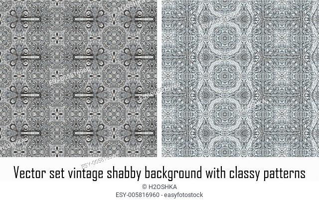 Vector set vintage background classical patterns
