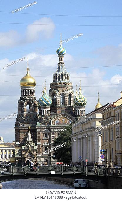 The Cathedral of the Resurrection or Church on Spilled Blood was build by Alexander III on the spot where Emperor Alexander II was assassinated in March 1881on...