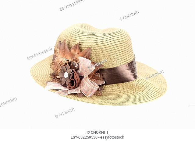 bab36d3b Beach hat isolated white background Stock Photos and Images | age ...