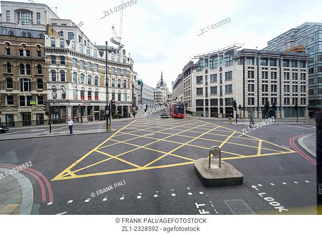 Large Intersection in London England
