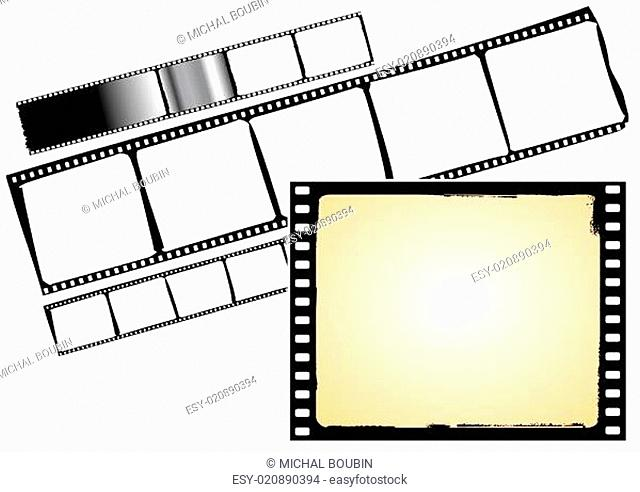 various film frames - vector