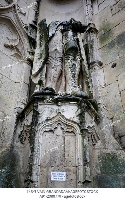 France, Poitou, Charente maritime, Saintes, The cathedral