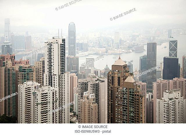 Hong kong, hong kong island, skyscrapers of central district