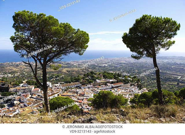 White village of Mijas Pueblo. Malaga province Costa del Sol. Andalusia southern Spain. Europe
